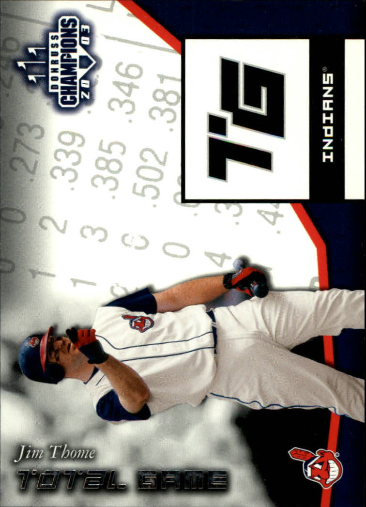2003 Donruss Champions Total Game #6 Jim Thome