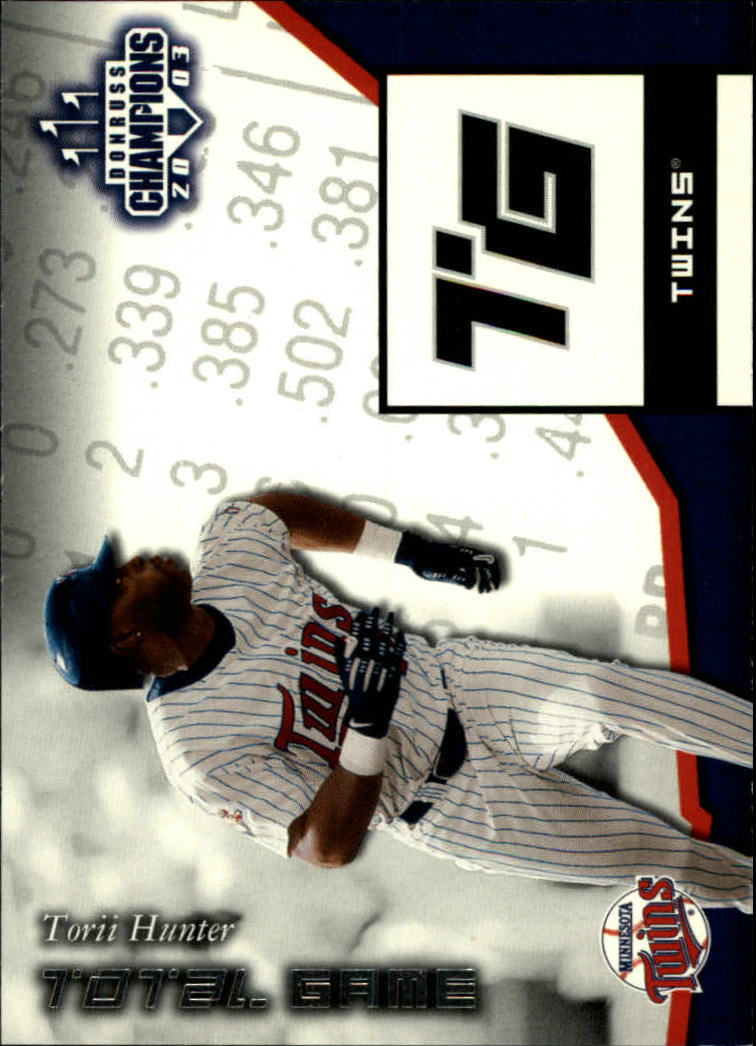 2003 Donruss Champions Total Game #7 Torii Hunter