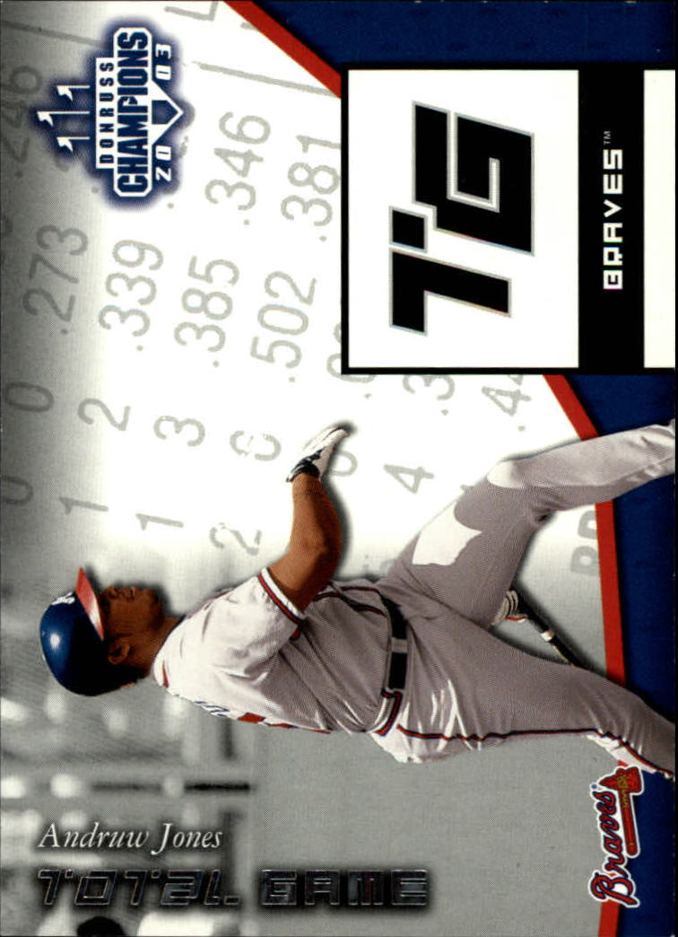 2003 Donruss Champions Total Game #9 Andruw Jones