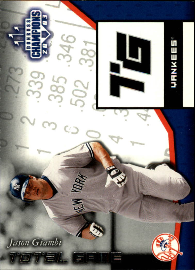 2003 Donruss Champions Total Game #19 Jason Giambi
