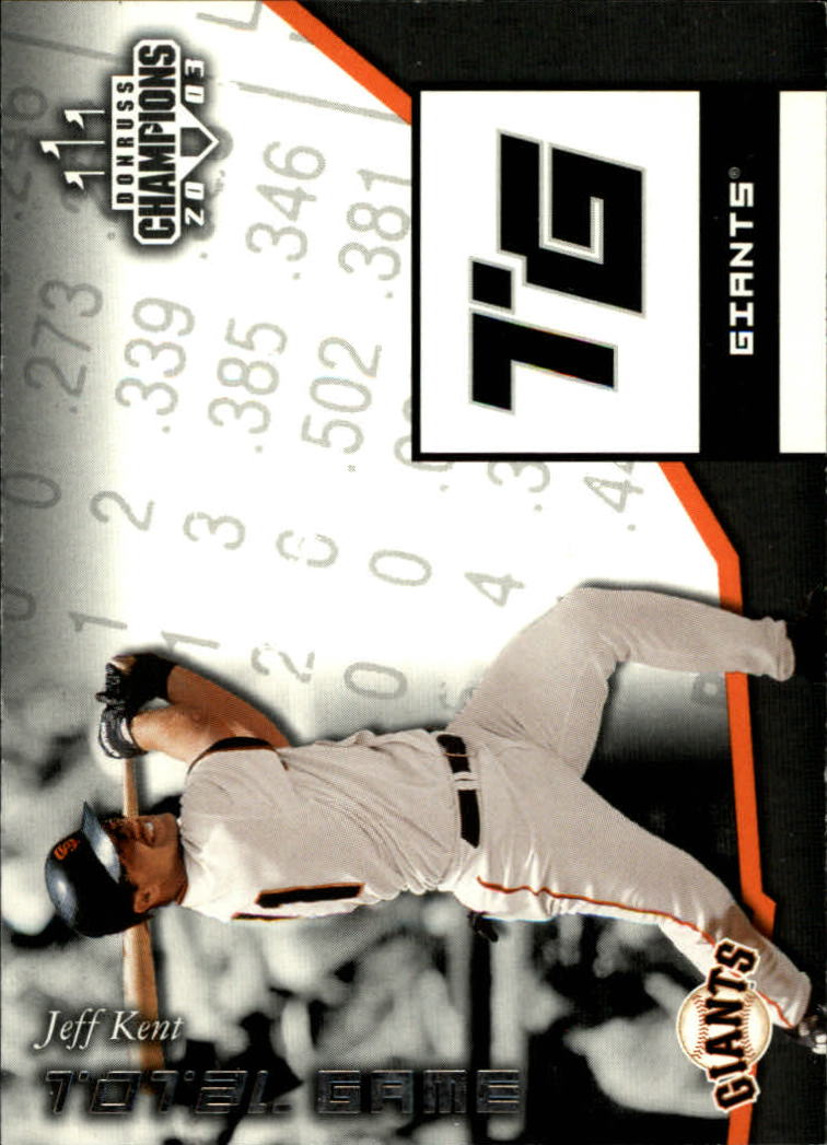 2003 Donruss Champions Total Game #40 Jeff Kent
