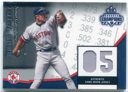 2003 Donruss Champions Total Game Materials #2 Nomar Garciaparra Jsy/200