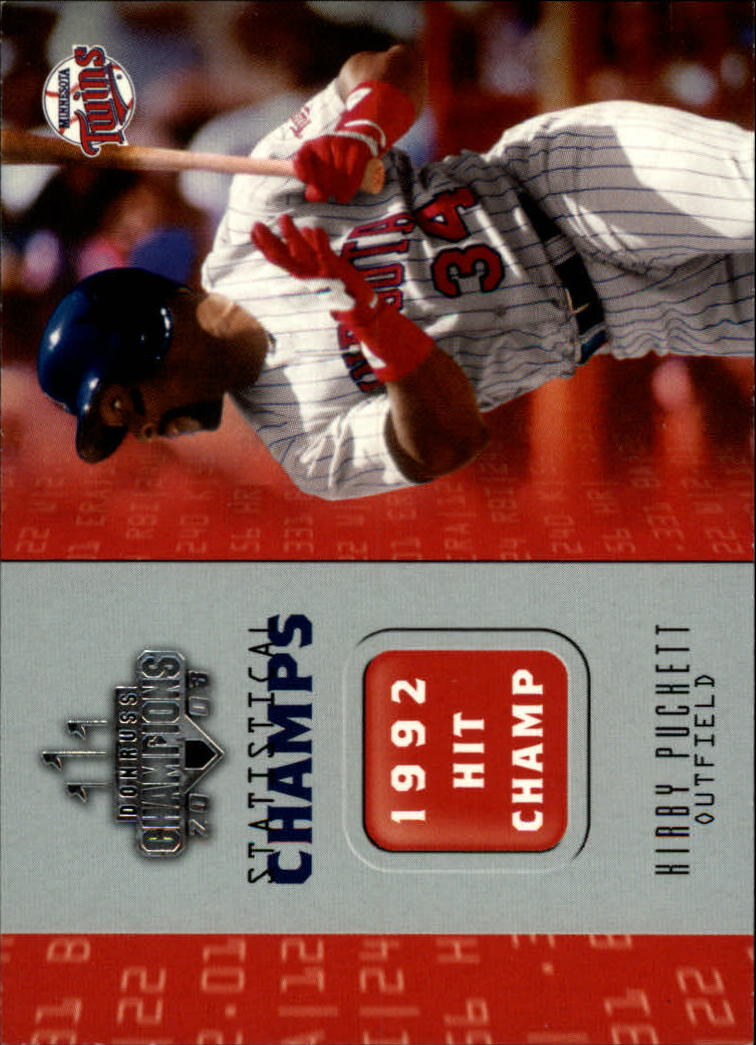 2003 Donruss Champions Statistical Champs #9 Kirby Puckett