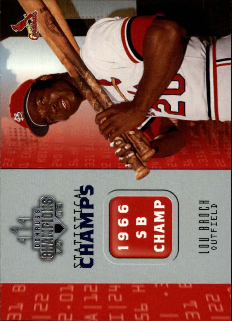 2003 Donruss Champions Statistical Champs #15 Lou Brock