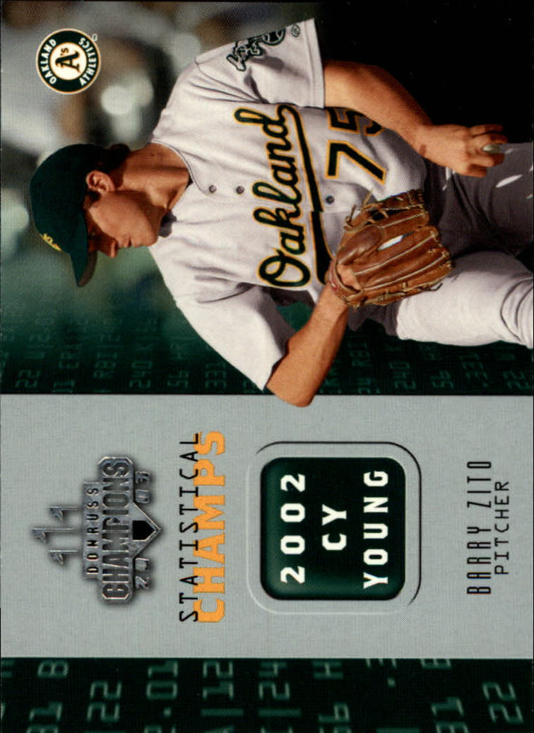 2003 Donruss Champions Statistical Champs #20 Barry Zito