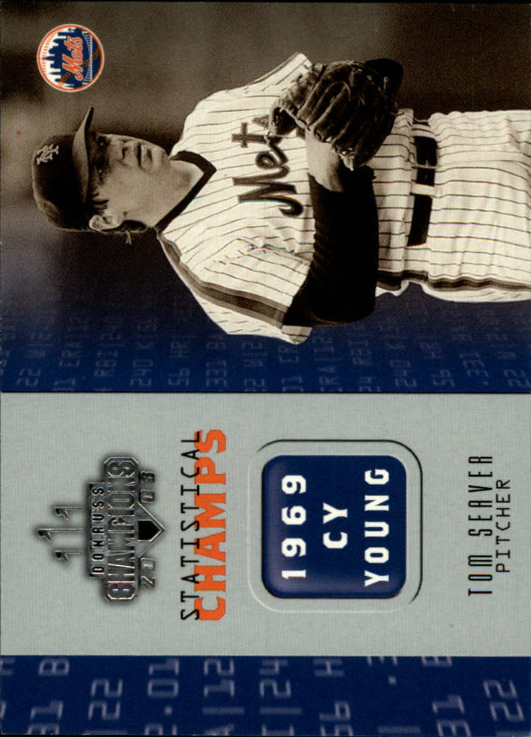 2003 Donruss Champions Statistical Champs #22 Tom Seaver