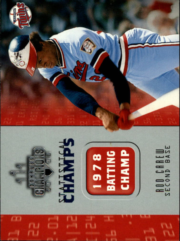2003 Donruss Champions Statistical Champs #27 Rod Carew