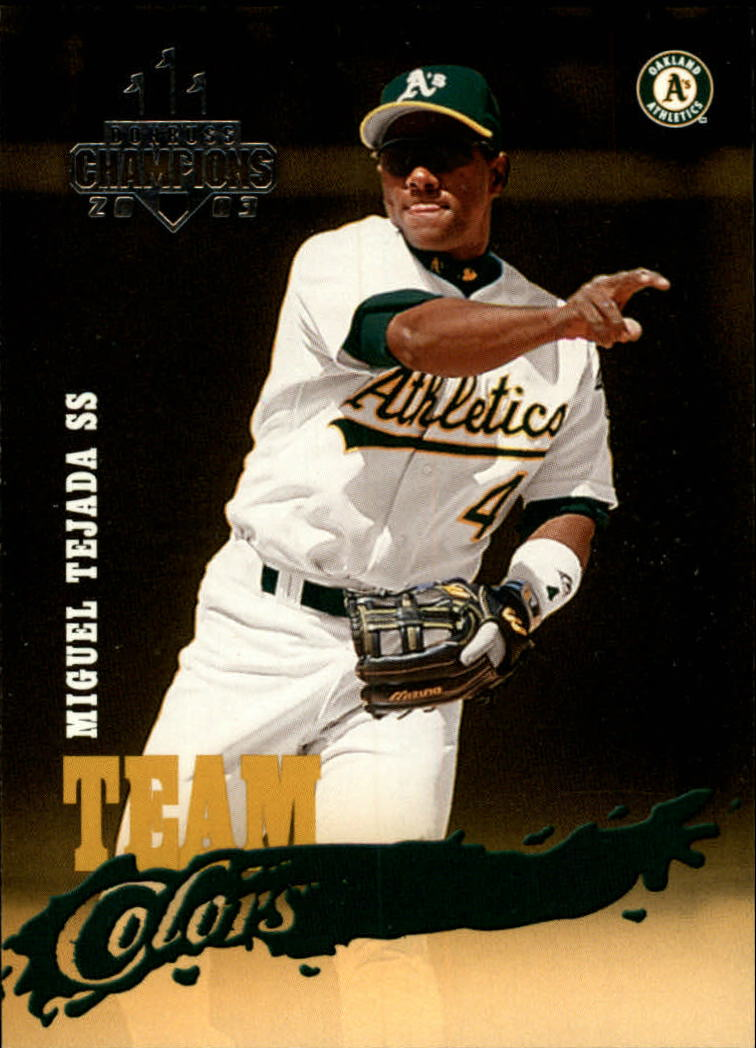 2003 Donruss Champions Team Colors #1 Miguel Tejada