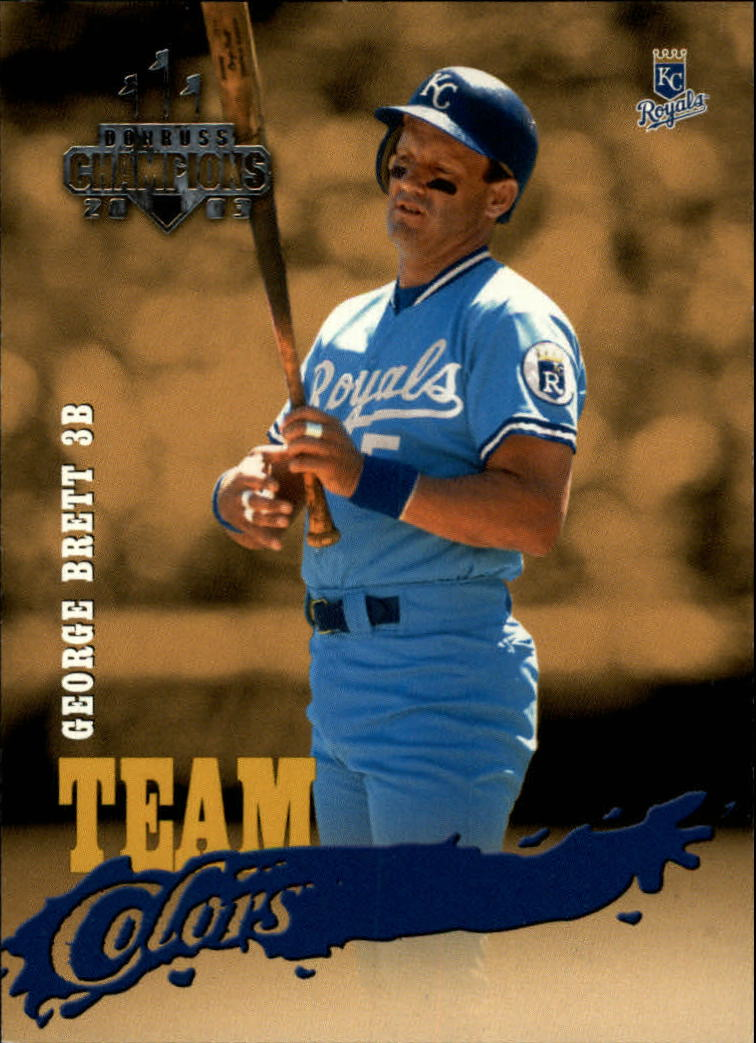 2003 Donruss Champions Team Colors #3 George Brett
