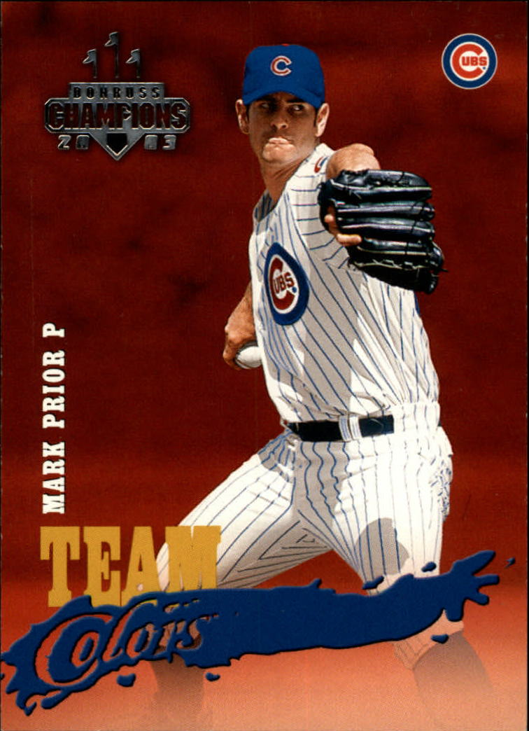 2003 Donruss Champions Team Colors #7 Mark Prior