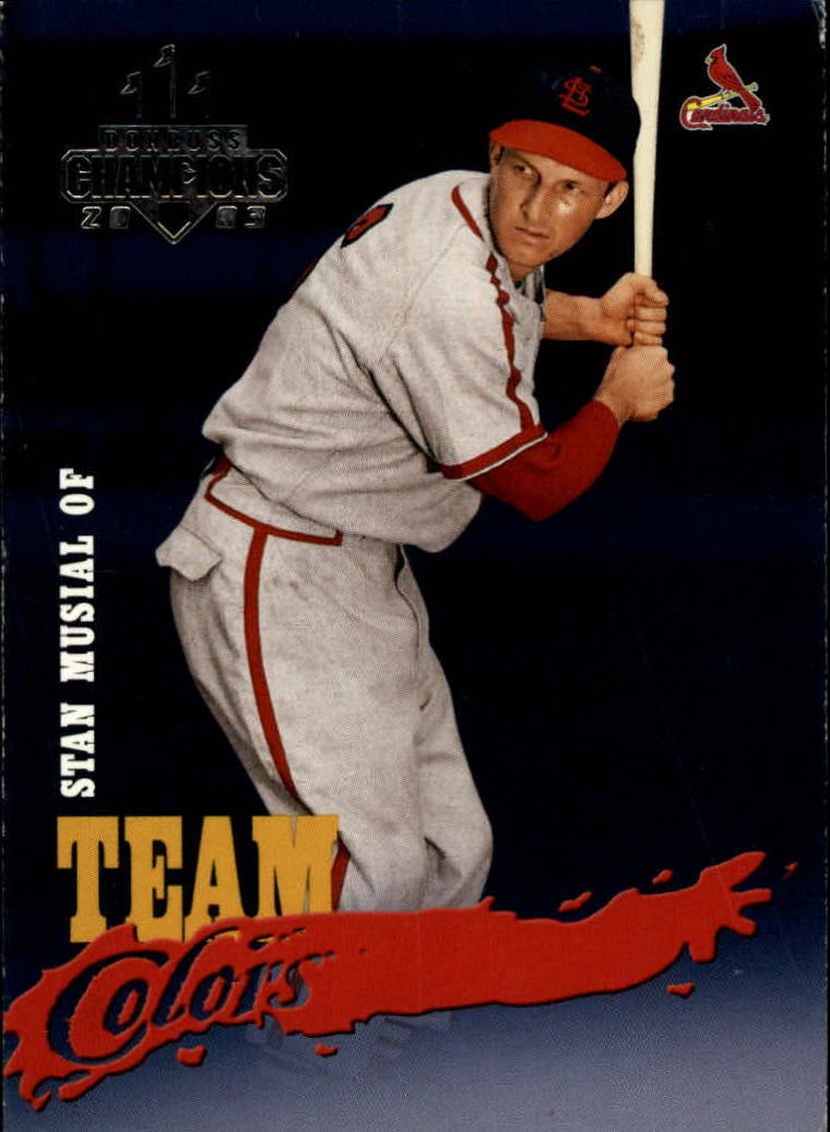 2003 Donruss Champions Team Colors #10 Stan Musial