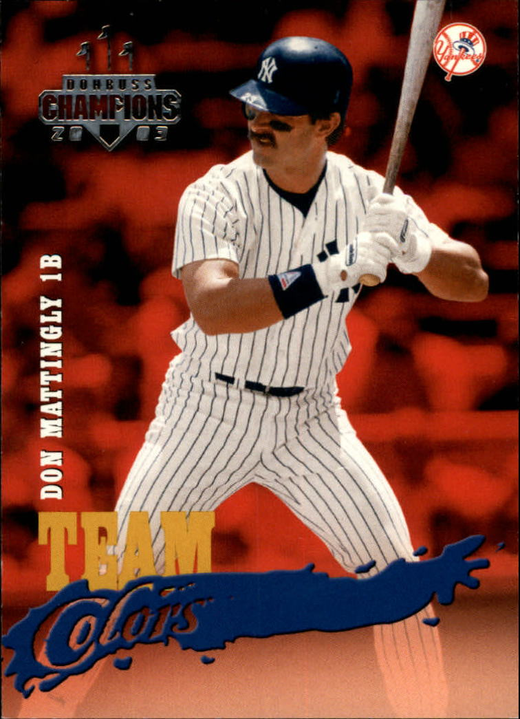 2003 Donruss Champions Team Colors #12 Don Mattingly