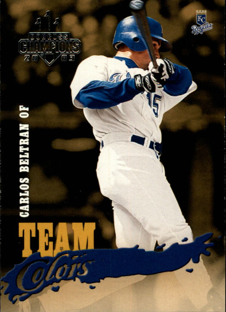 2003 Donruss Champions Team Colors #17 Carlos Beltran