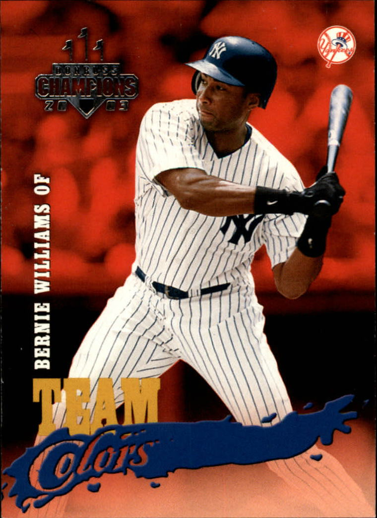 2003 Donruss Champions Team Colors #21 Bernie Williams