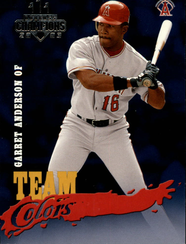 2003 Donruss Champions Team Colors #27 Garret Anderson