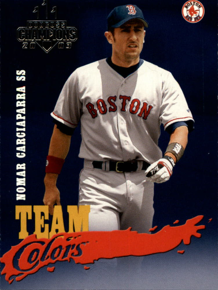 2003 Donruss Champions Team Colors #28 Nomar Garciaparra
