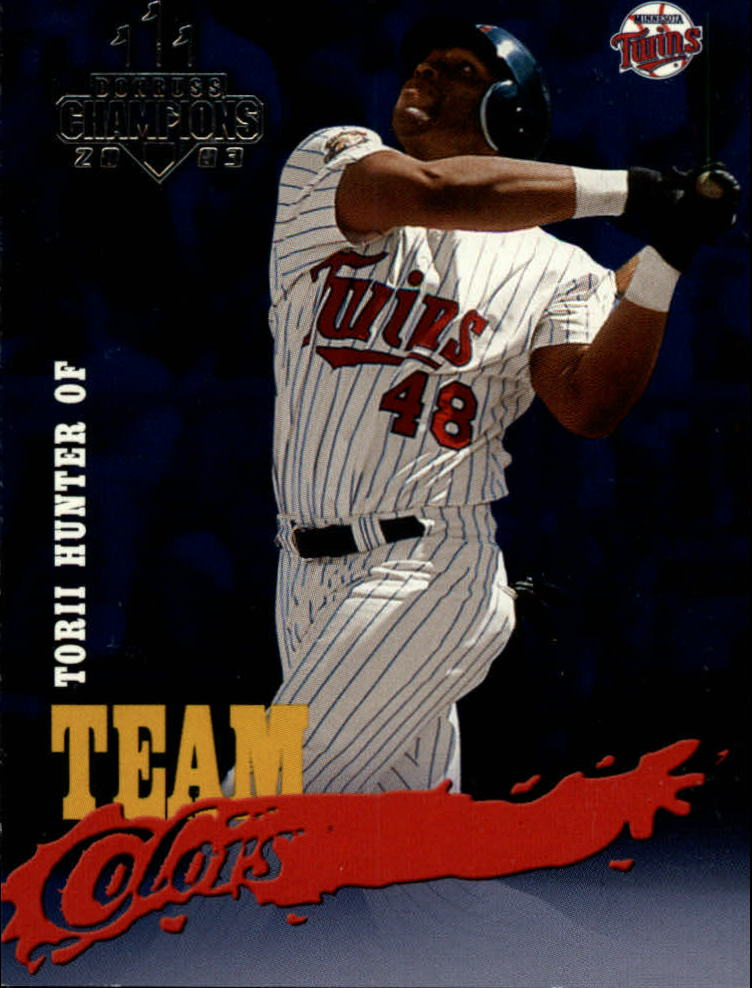 2003 Donruss Champions Team Colors #29 Torii Hunter
