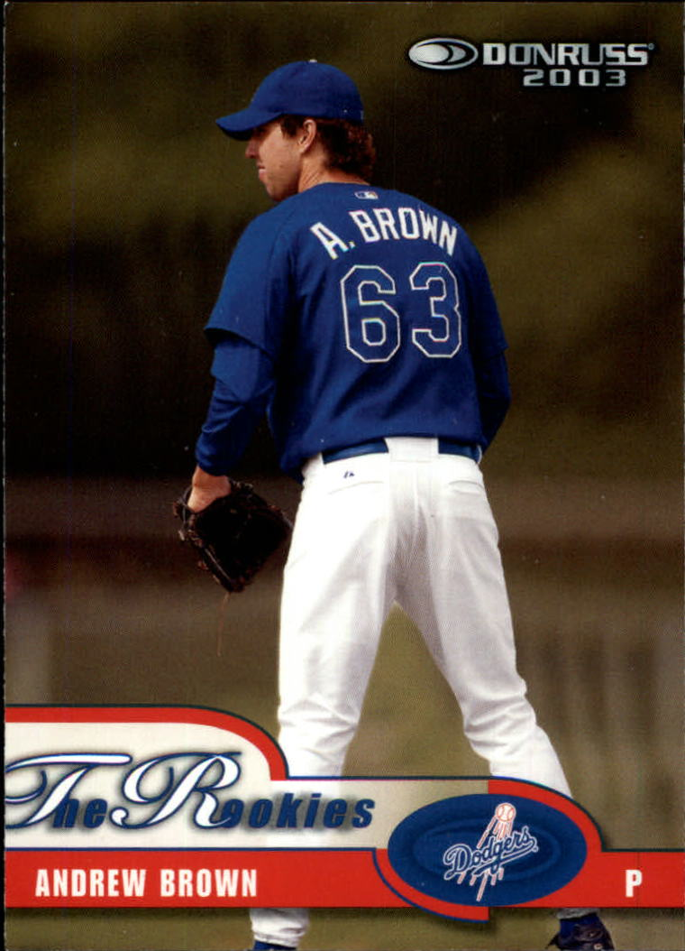 2003 Donruss Rookies #8 Andrew Brown RC