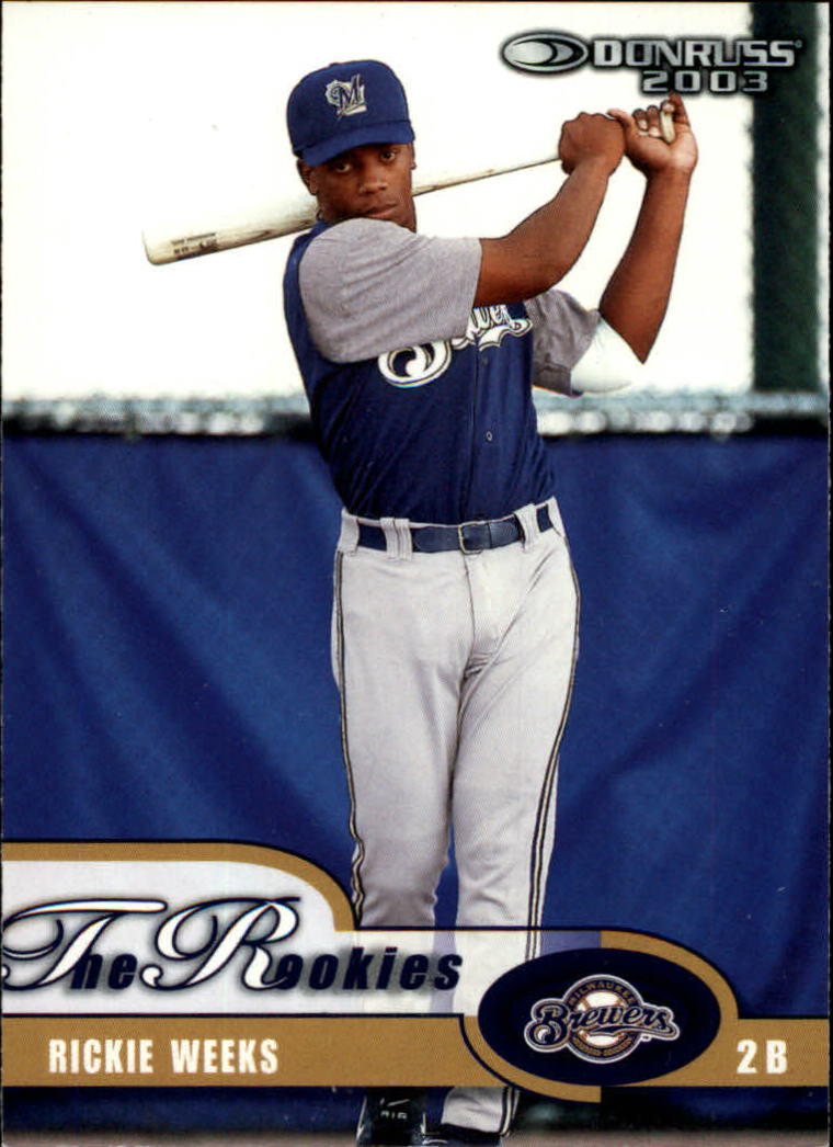 2003 Donruss Rookies #16 Rickie Weeks RC