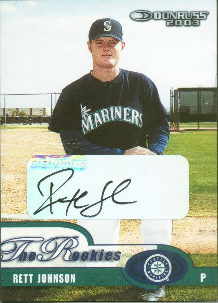 2003 Donruss Rookies Autographs #35 Rett Johnson/1000