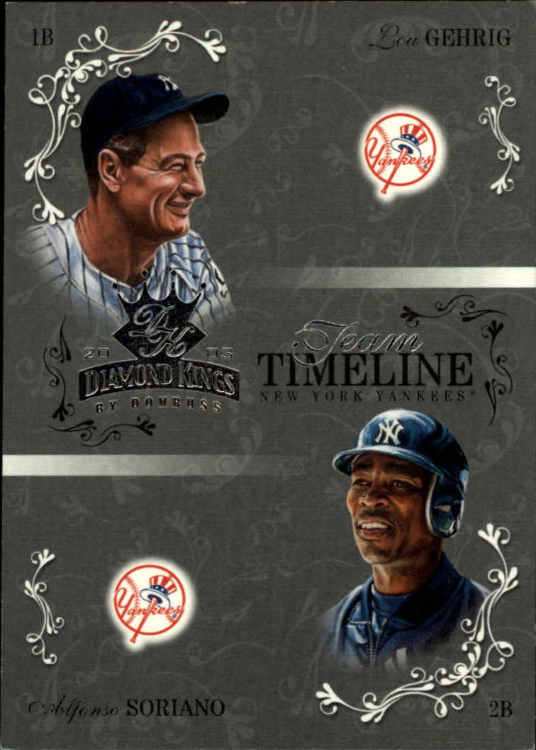 2003 Diamond Kings Team Timeline #10 L.Gehrig/A.Soriano