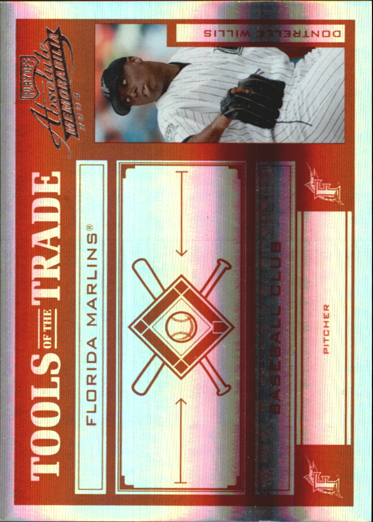 2004 Absolute Memorabilia Tools of the Trade Red Spectrum #43 Dontrelle Willis H