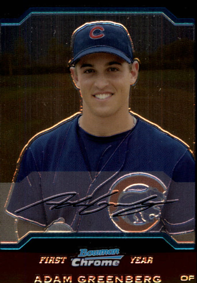 2004 Bowman Chrome #180 Adam Greenberg RC