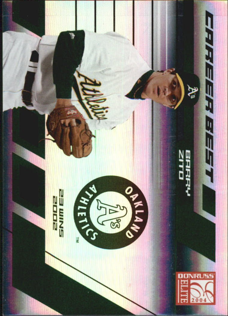 2004 Donruss Elite Career Best #5 Barry Zito