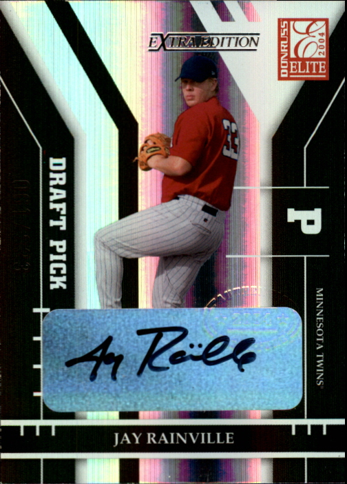 2004 Donruss Elite Extra Edition #319 Jay Rainville AU/823 RC