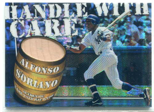 2004 Topps Chrome Handle With Care Bat Knob Relics #AS Alfonso Soriano