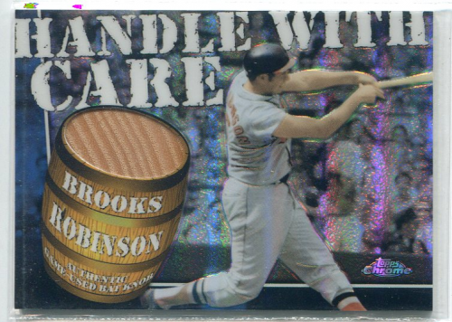 2004 Topps Chrome Handle With Care Bat Knob Relics #BR Brooks Robinson