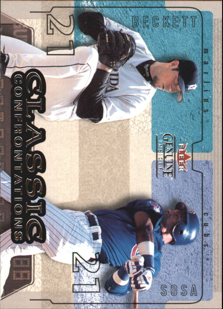 2004 Fleer Genuine Insider Classic Confrontations #5 J.Beckett/S.Sosa