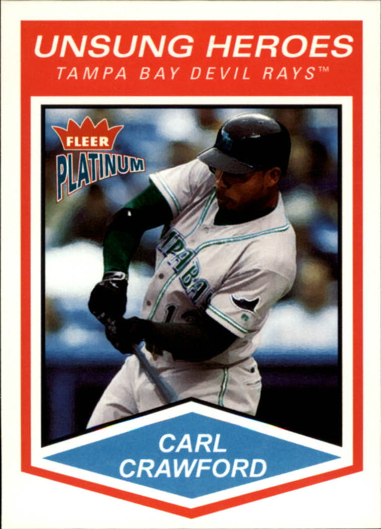 2004 Fleer Platinum #180 Carl Crawford UH