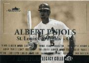 2004 Fleer Showcase Pujols Legacy Collection #3 Albert Pujols 01 Slugger