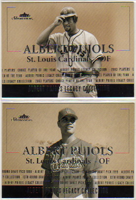2004 Fleer Showcase Pujols Legacy Collection #7 Albert Pujols HR Record