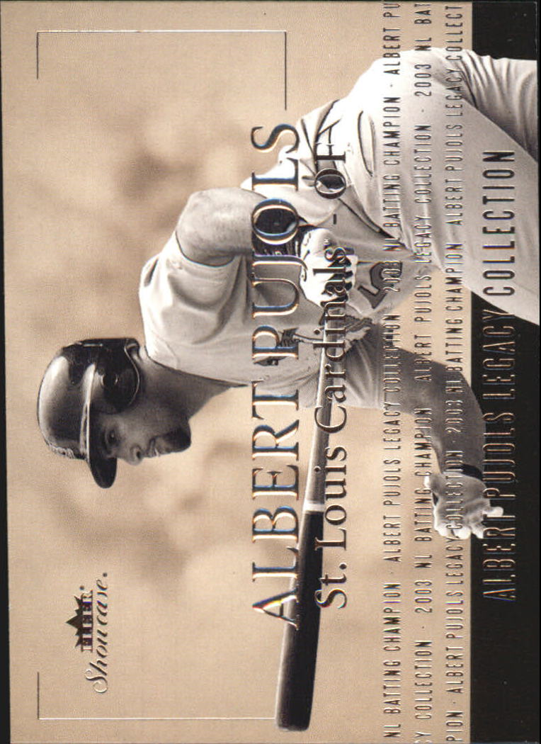 2004 Fleer Showcase Pujols Legacy Collection #9 Albert Pujols 03 Btg Champ