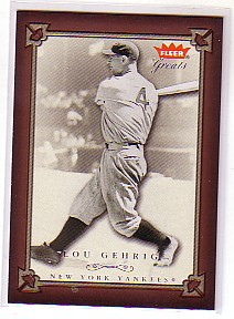 2004 Greats of the Game #1 Lou Gehrig front image