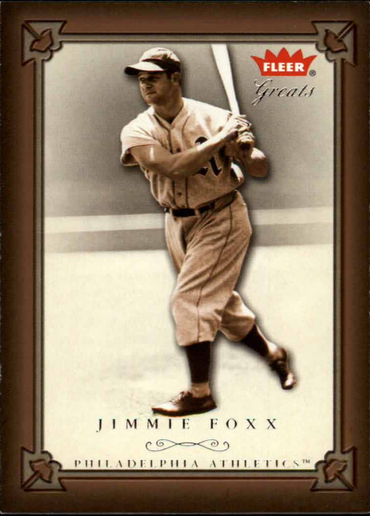 2004 Greats of the Game #4 Jimmie Foxx