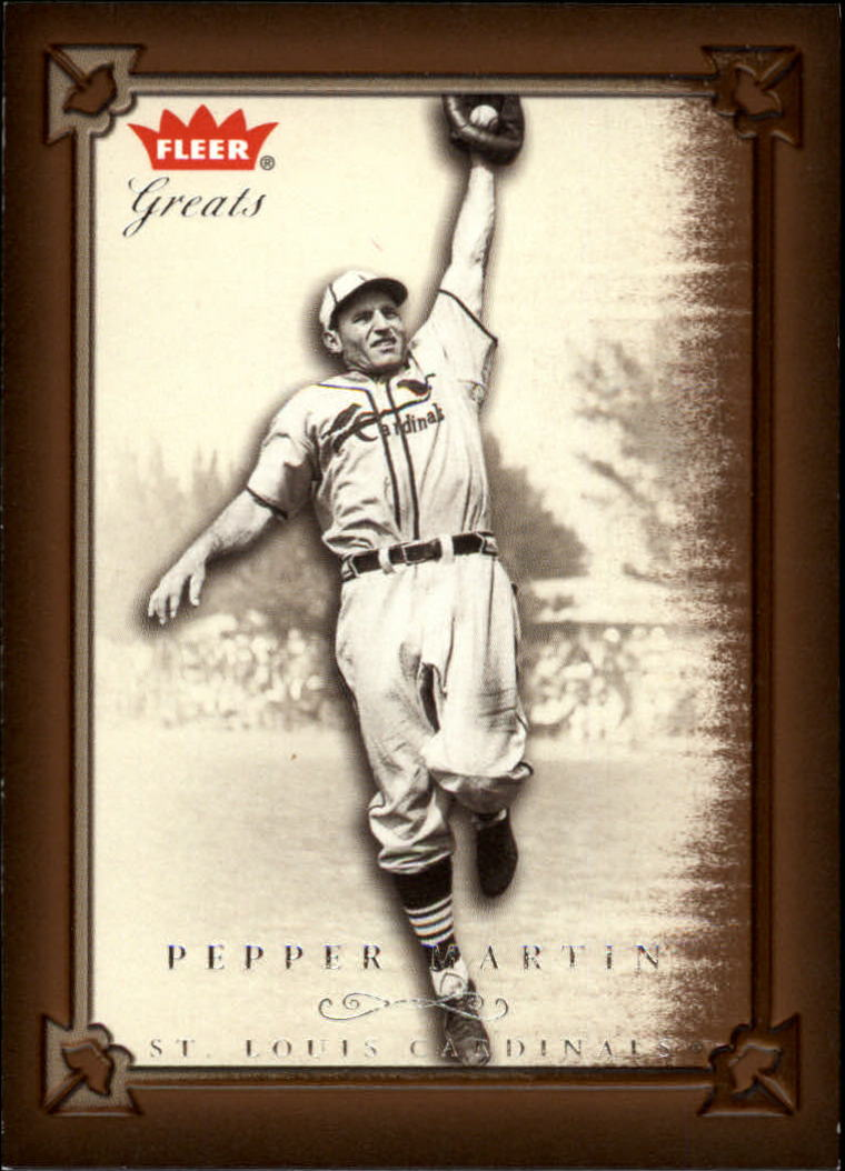 2004 Greats of the Game #9 Pepper Martin front image