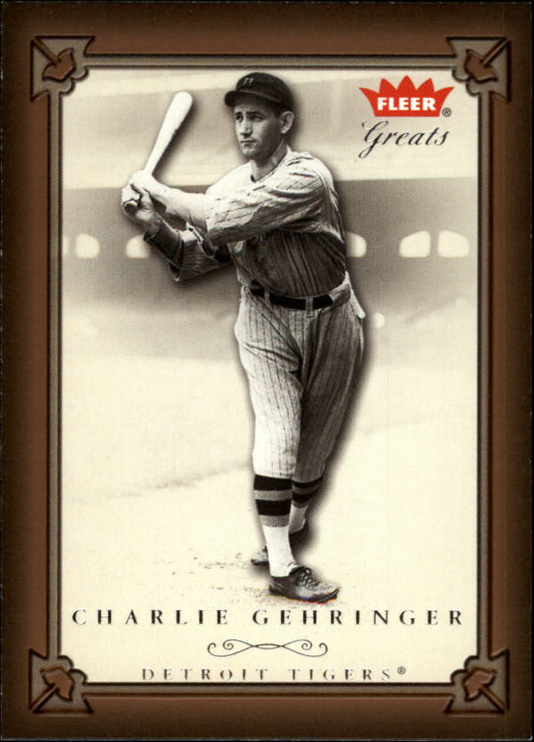 2004 Greats of the Game #10 Charlie Gehringer front image