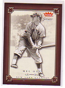 2004 Greats of the Game #13 Mel Ott
