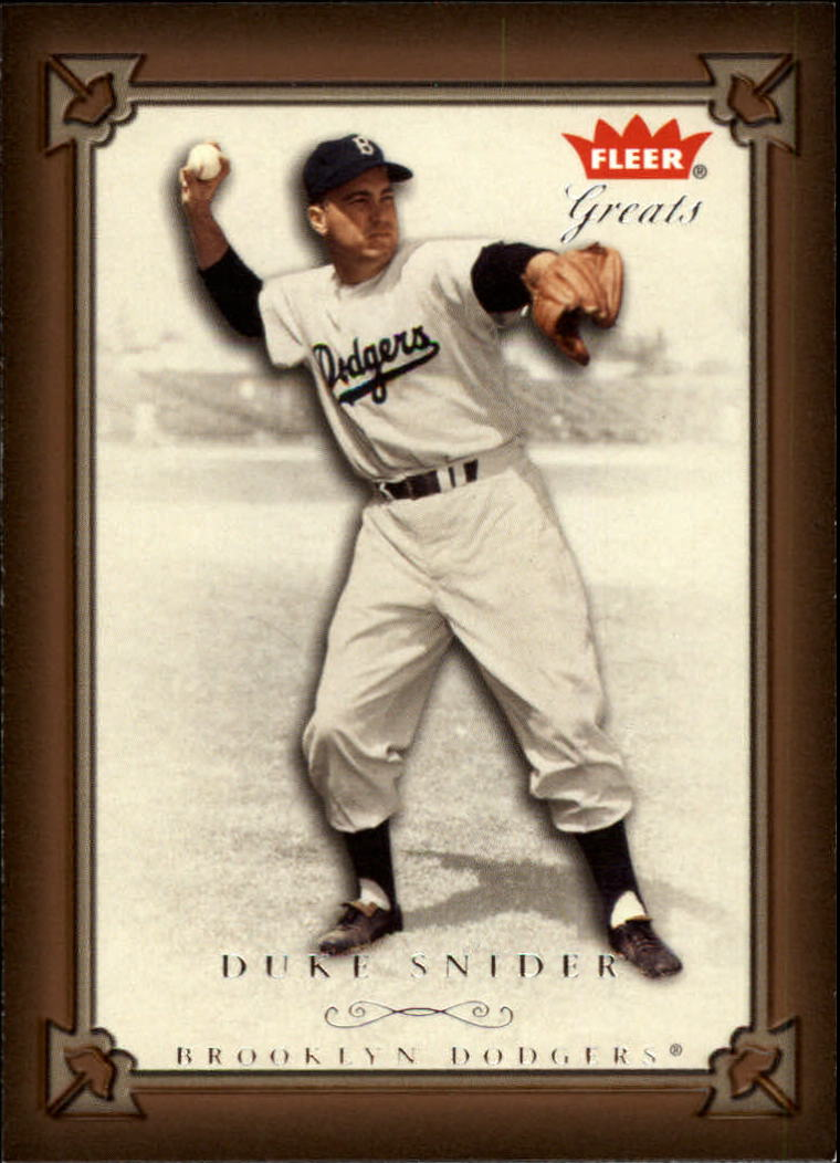 2004 Greats of the Game #20 Duke Snider Brooklyn