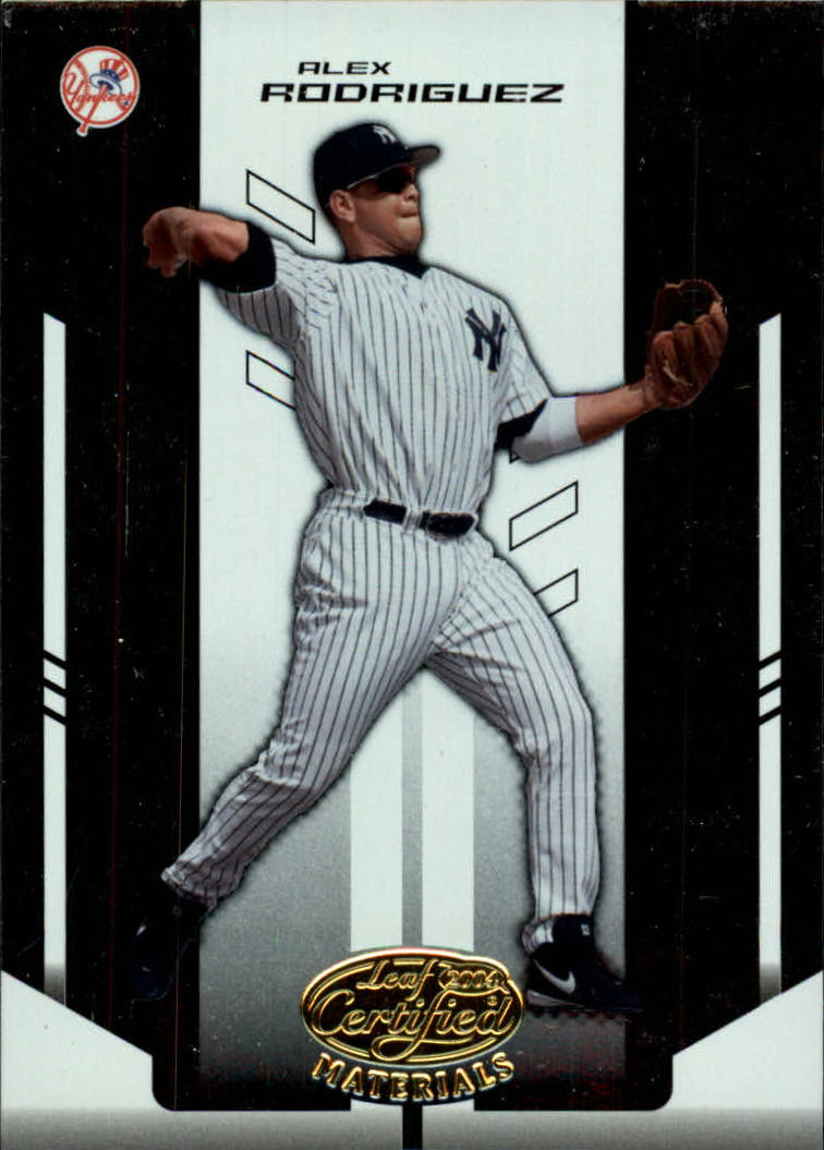 2004 Leaf Certified Materials #8 Alex Rodriguez Yanks