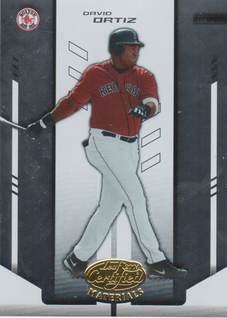 2004 Leaf Certified Materials #49 David Ortiz