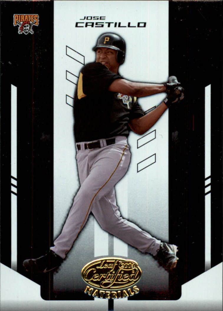 2004 Leaf Certified Materials #107 Jose Castillo front image