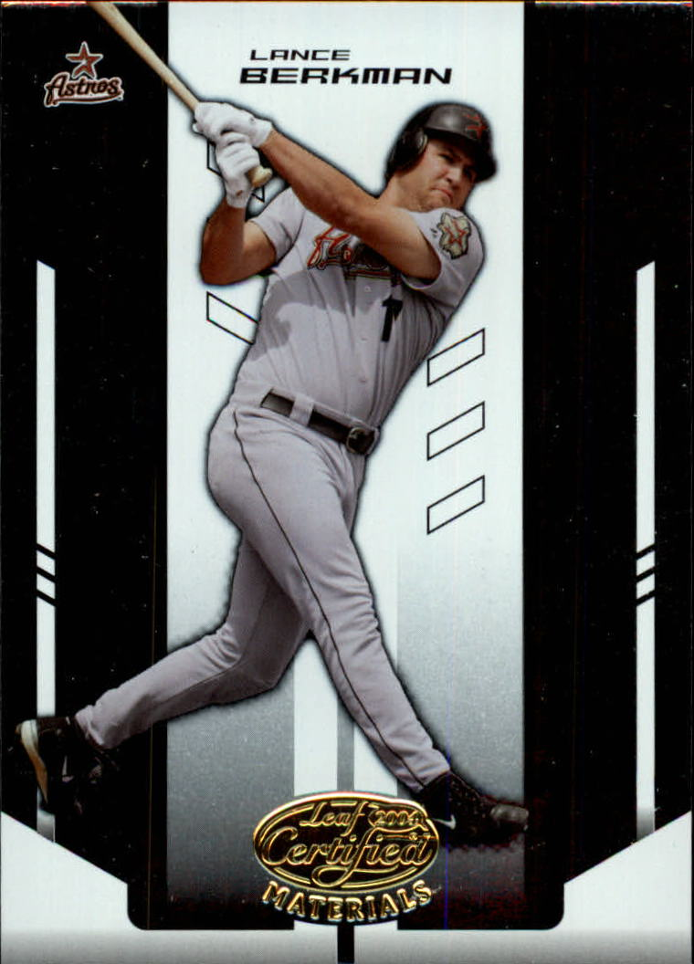 2004 Leaf Certified Materials #120 Lance Berkman