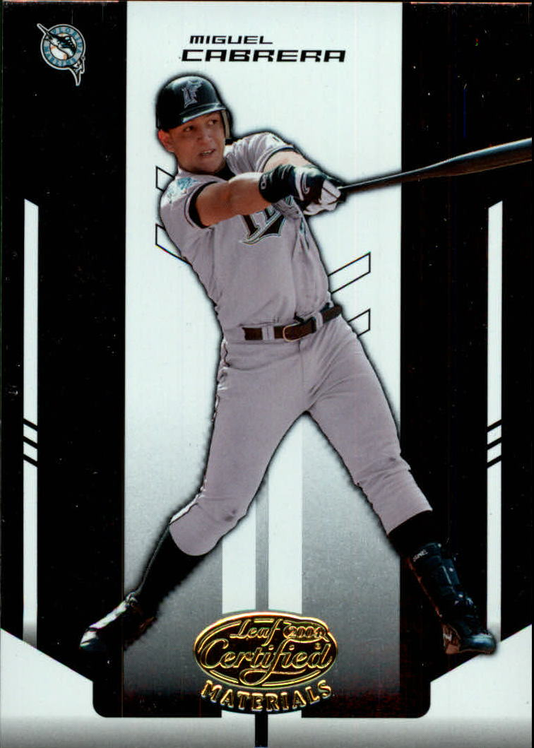 2004 Leaf Certified Materials #137 Miguel Cabrera