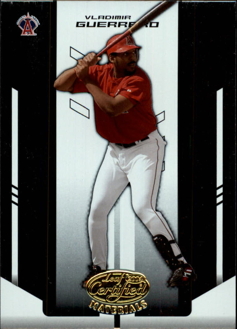 2004 Leaf Certified Materials #188 Vladimir Guerrero Angels