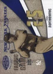 2004 Leaf Certified Materials Fabric of the Game Jersey Year #9 Babe Ruth Jsy/25