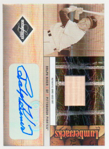 2004 Leaf Limited Lumberjacks Autographs Bat #28 Ralph Kiner/100